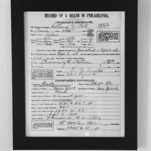 Catherine Ham Peto, Death Certificate